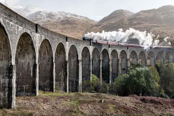 train with smoke